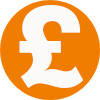 Orange Pound sign 100px