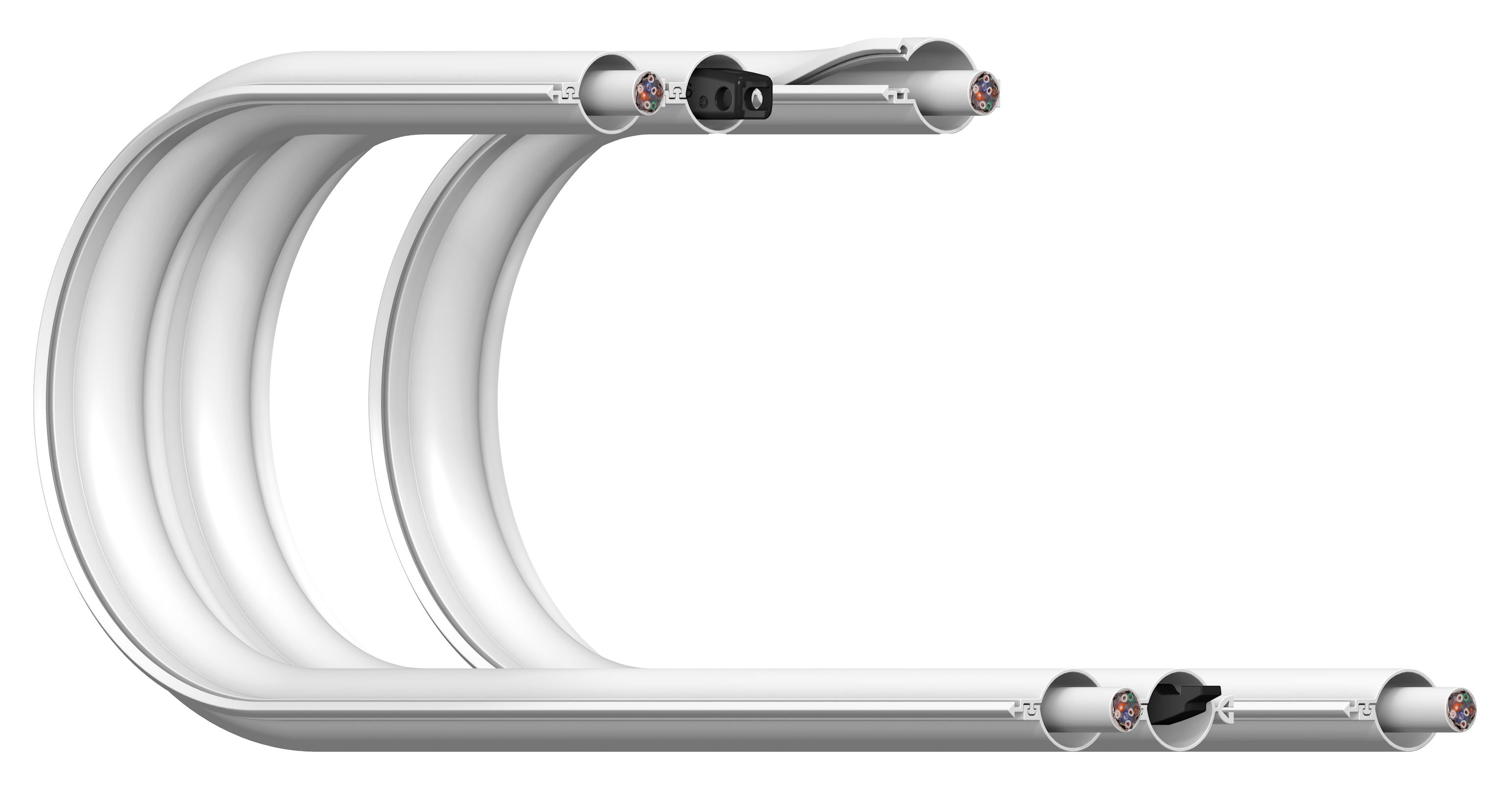 Flaches Kabelführungssystem e-skin flat